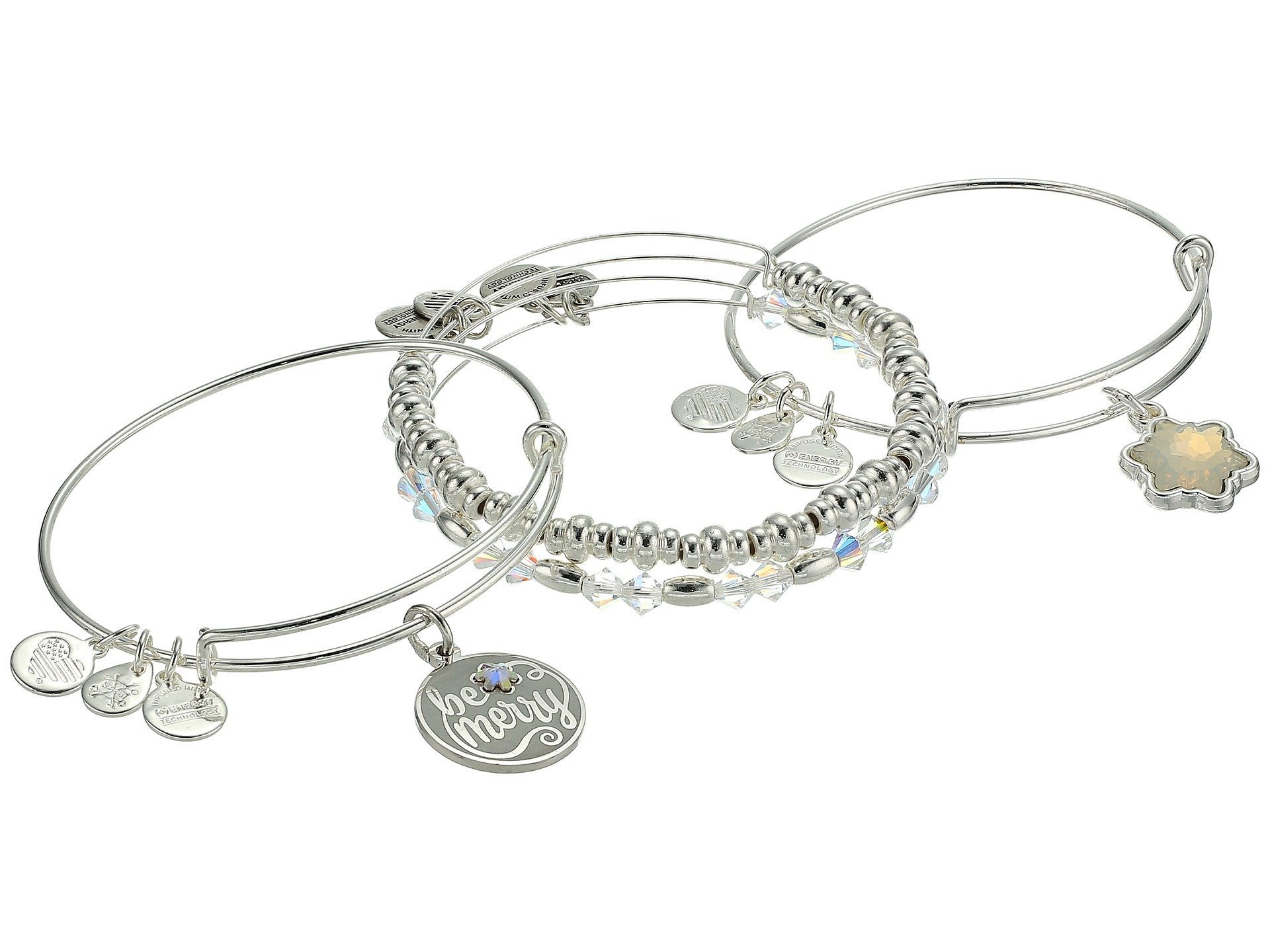 Alex and Ani★Be Merry Set Of 4 Bracelet▽送料関税込
