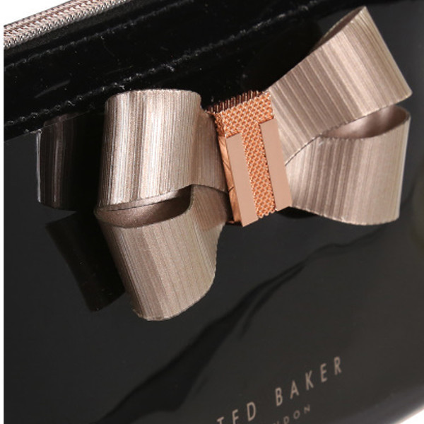 ★TED BAKER★Lezlie Bow Detail メイクアップバッグ/ブラック