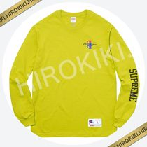 【17AW】Supreme Champion Stacked C L/S Tee ロンT Green 緑