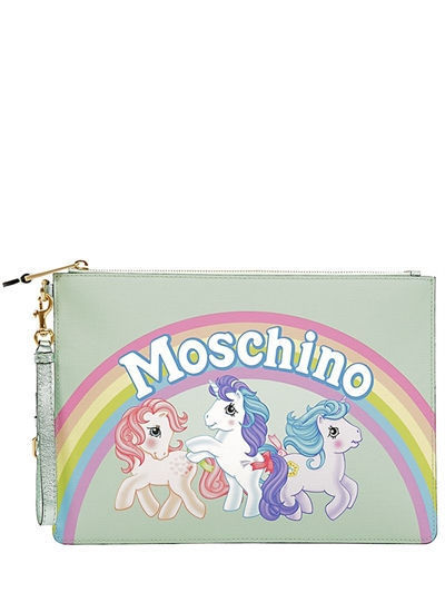 2018SS 送料関税込 Moschino MEDIUM LITTLE PONY PRINTED POUCH