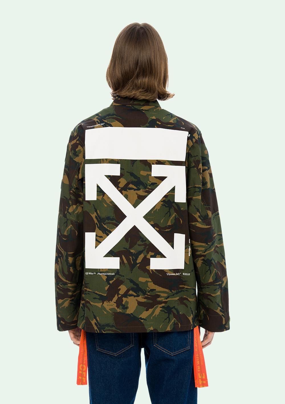 新作☆18SS☆Off-White☆FIELD JACKET CAMOUFLAGE
