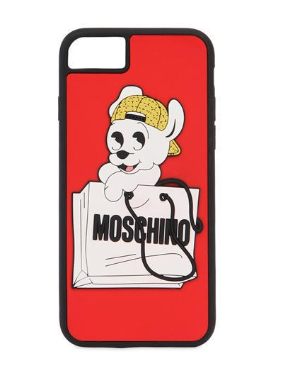 2018SS 送料関税込 Moschino PUDGY PRINTED IPHONE 7 COVER