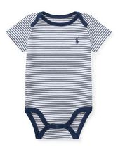 新作♪国内発送 3色Striped Cotton Jersey Bodysuit boys 0~24M