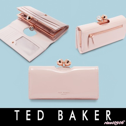 *TED BAKER* Patent leather bobble matinee 長財布
