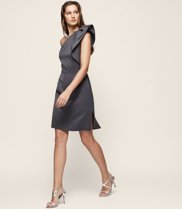 【海外限定】REISS ドレス☆SELIKA ONE-SHOULDER COCKTAIL DRESS
