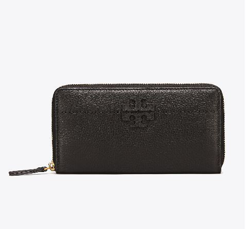 【Tory Burch】 McGraw ZIP CONTINENTAL 長財布 ブラック