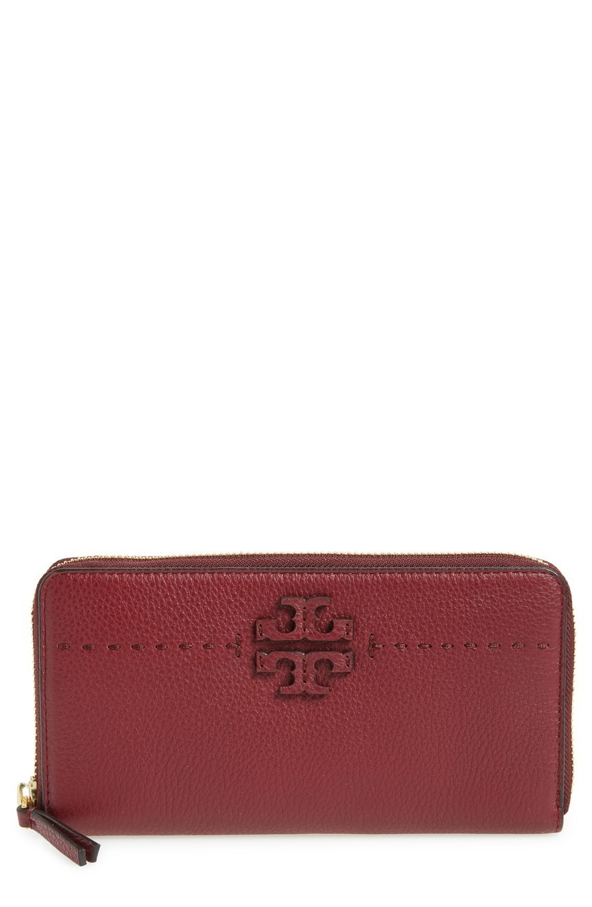 新作SALE【Tory Burch】人気色★McGRAW ZIP CONTINENTAL WALLET