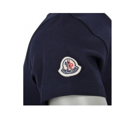 MONCLER Tシャツ・カットソー 安心の国内発送 MONCLER ☆SUPER MONCLER Tシャツ 腕ロゴ付(2)