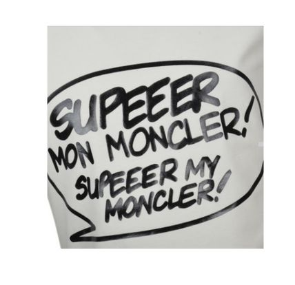 MONCLER Tシャツ・カットソー 安心の国内発送 MONCLER ☆SUPER MONCLER Tシャツ 腕ロゴ付(3)