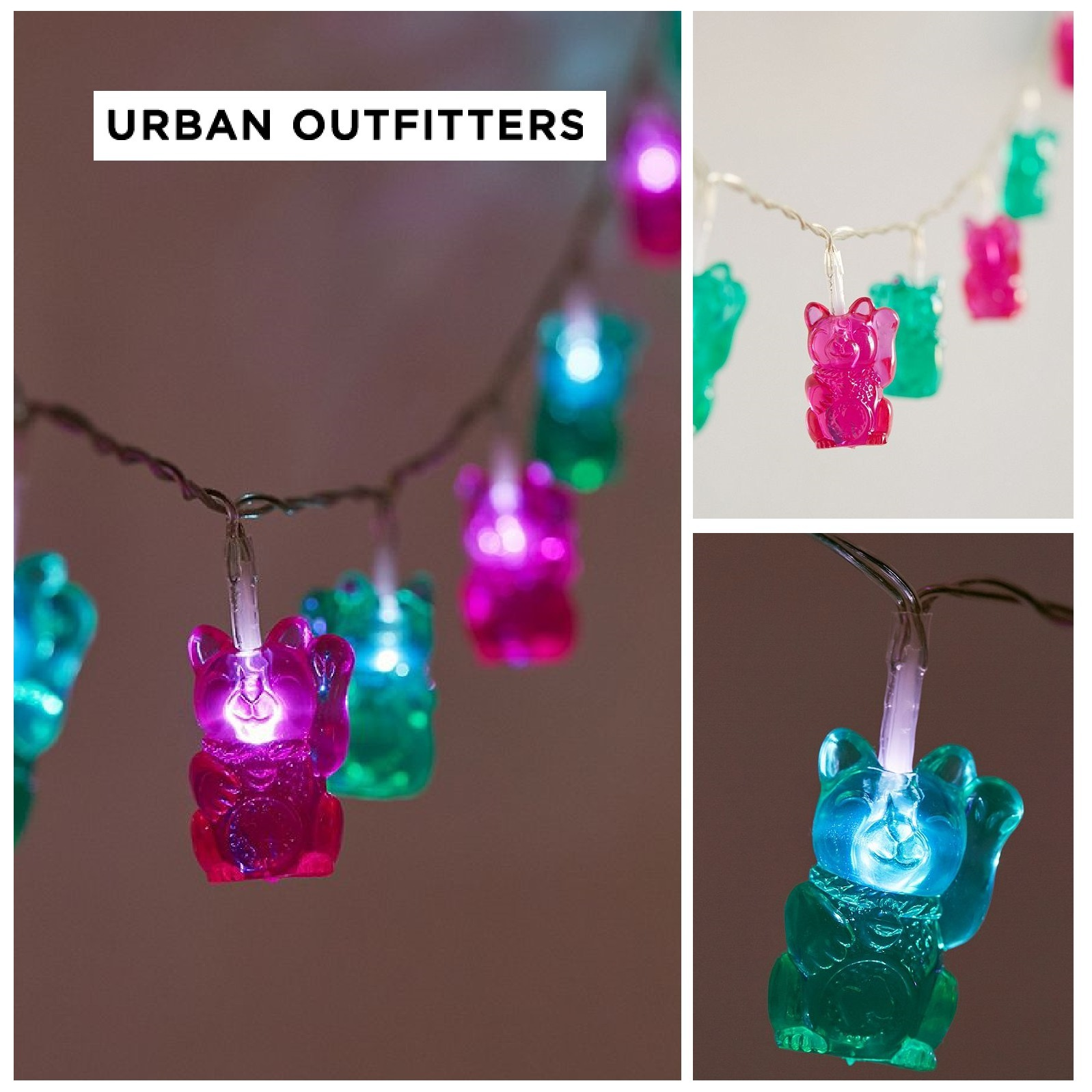☆Urban Outfitters☆Fortune Cat String Lights☆ 税送込