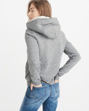 Abercrombie & Fitch スウェット・トレーナー 絶対ほしい。HERITAGE LOGO FUR-LINED HOODIE(5)