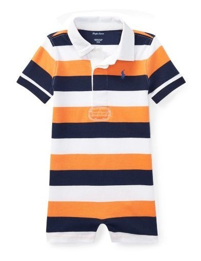 新作♪国内発送 Striped Cotton Rugby Shortall boys 0~24M