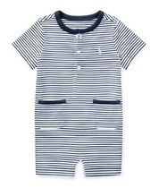 新作♪国内発送 3色Striped Cotton Jersey Shortall boys 0~24M