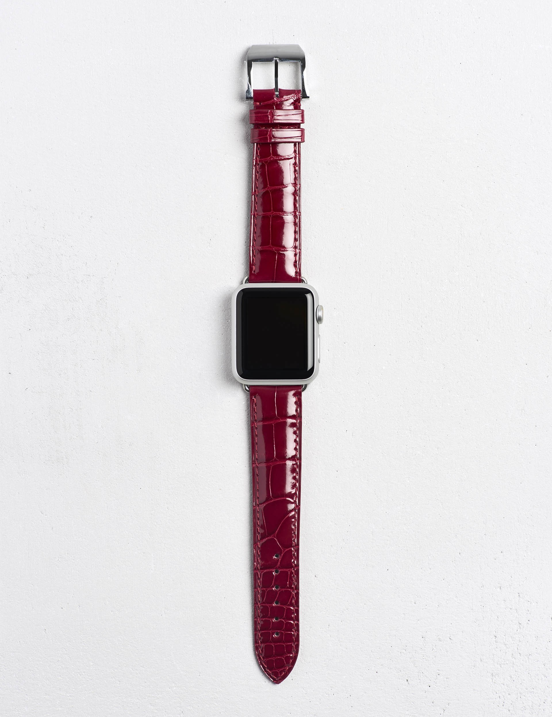 Apple watch用 Camille Fournet 革製ベルト4色