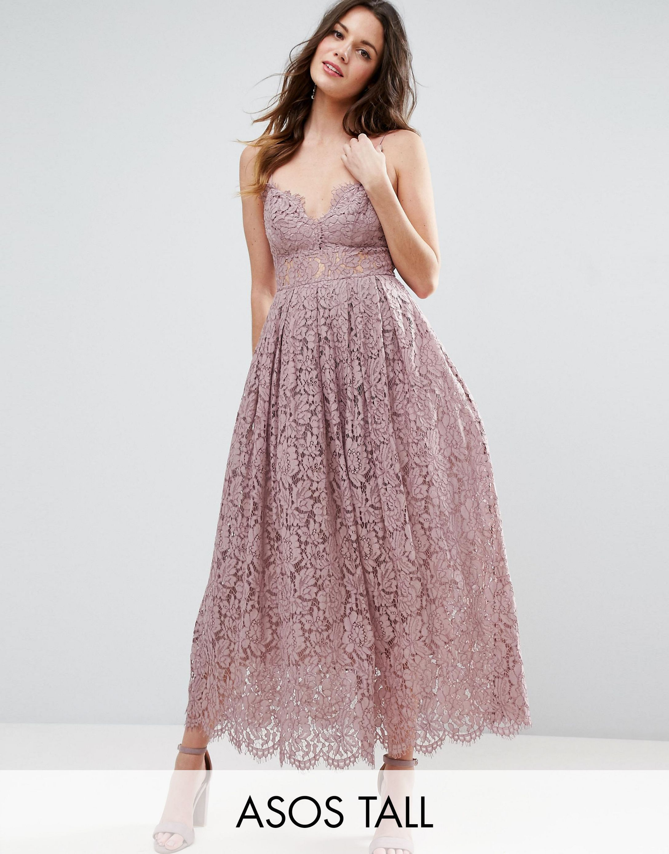 ★ASOS★ TALL Lace Cami ミッドi Prom ワンピース