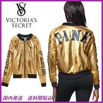 日本未☆Victoria's Secret☆Metallic Bomber ジャケット gold