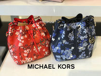 Michael Kors★春新作 GREENWICH MD BUCKET BAG 茶巾型*花柄