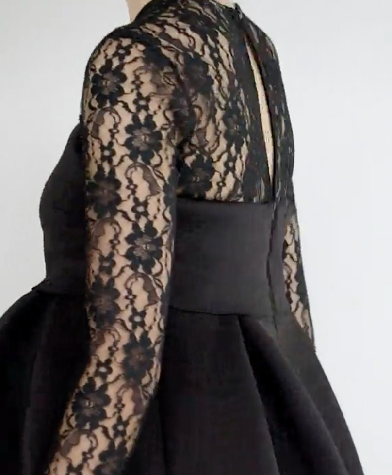 ☆ASOS MATERNITY Lace Long Sleeve Crop Top Prom Dress☆