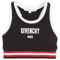 GIVENCHY(ジバンシィ) キッズ用トップス 大人OK★GIVENCHY★18SS★ロゴ入クロップドトップス★黒★6Y~12Y