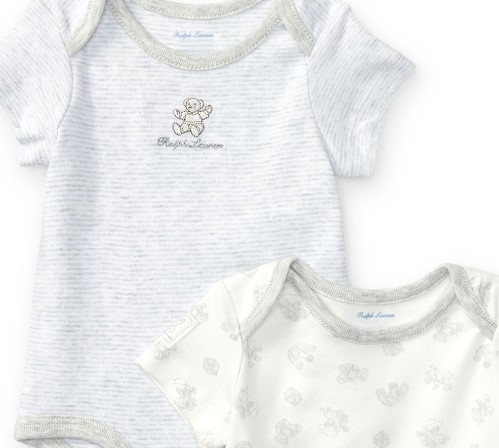 新作♪国内発送 Cotton Bodysuit 2-Piece Set boys 0~24M