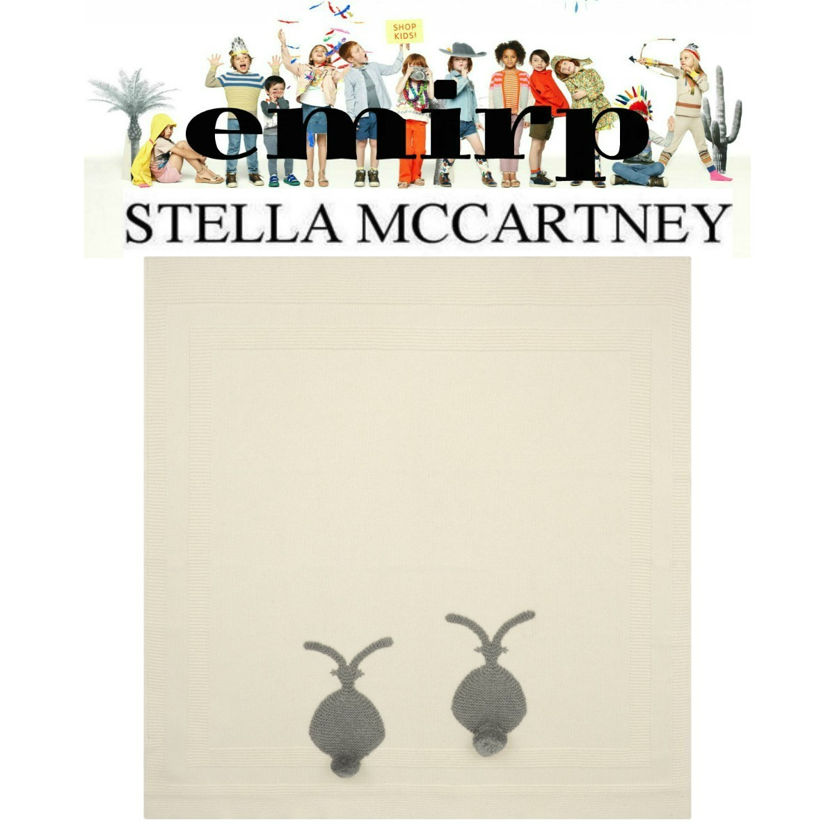 STELLA McCARTNEY★BABY★COTTON & WOOL ベビーブランケット
