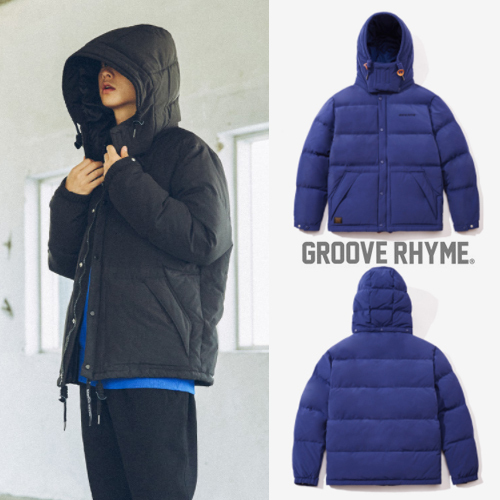 ★GROOVE RHYME★韓国の人気★2017 RETRO PUFFER DOWN (BLUE)