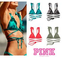 トップ単品★PINK新作★ BODY WRAP RUFFLE TRIANGLE