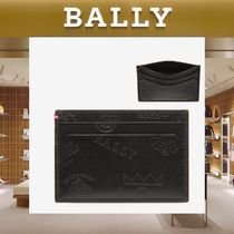 【18SS NEW】 BALLY_men/BHAR TattooレザーカードホルダーBK