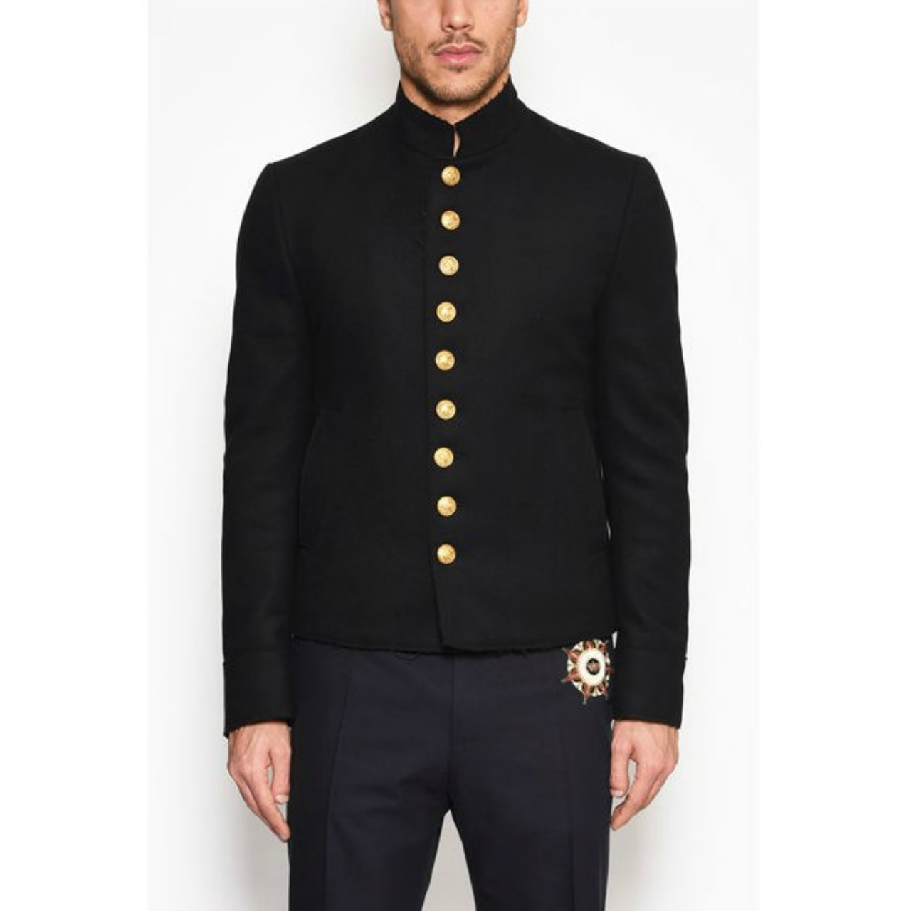 *DOLCE&GABBANA*'MARSINA' MILITARY JACKET WITH GOLD BUTTONS