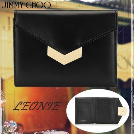 Jimmy Choo☆LEONIES-pazzolato Leather French Wallet- 折財布