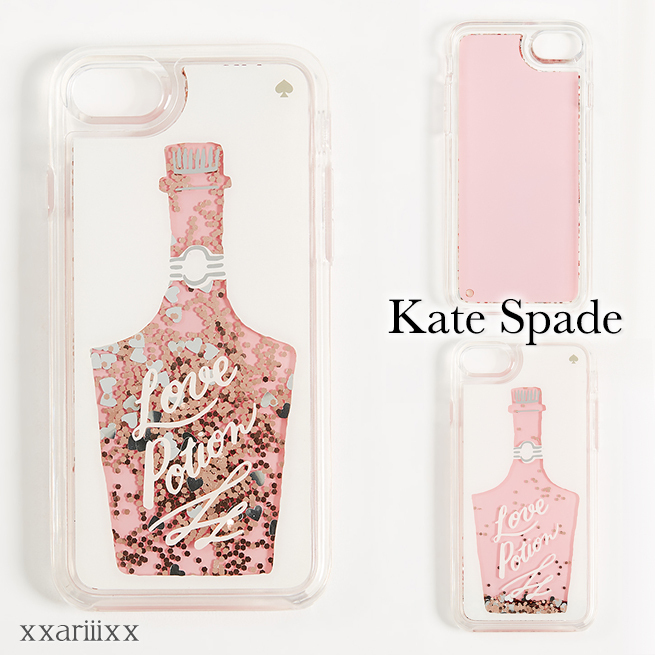 ◆kate spade◆ new york Love Potion グリッター iPhone ケース