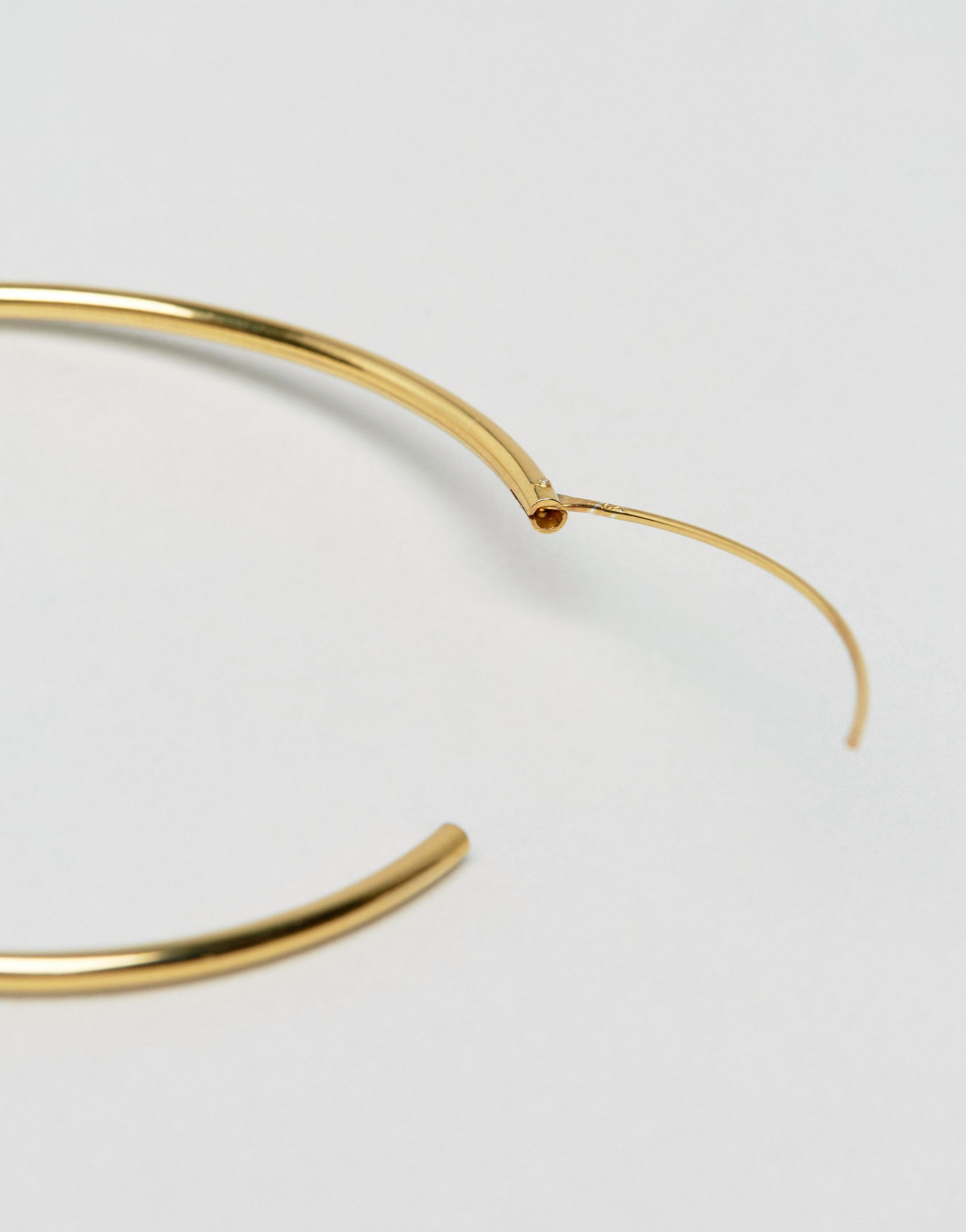 ★ASOS★ Gold Plated Sterling シルバー 60mm Hoop Earrings