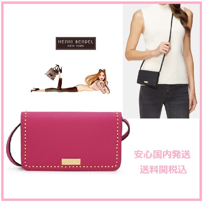 HenriBendel ヘンリベンデル iPhone CROSSBODY STUDDED スタッズ