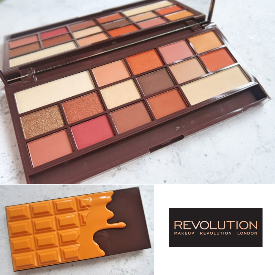 MAKEUP REVOLUTION☆I Heart Chocolate オレンジ アイシャドウ