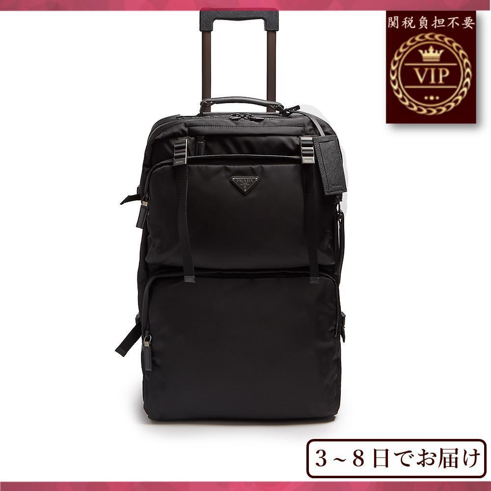 新作すぐ届く▼Multi-pocket nylon&レザーsuitcase