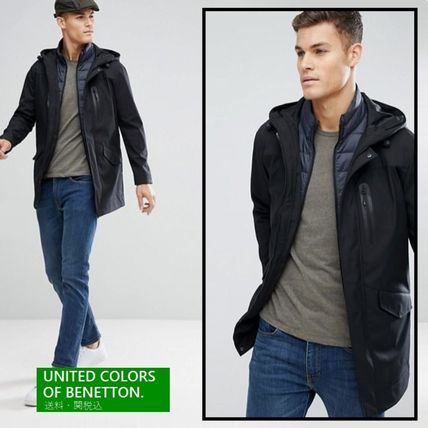 United Colors of Benetton 取り外可能ベスト付 2 In 1 パーカー