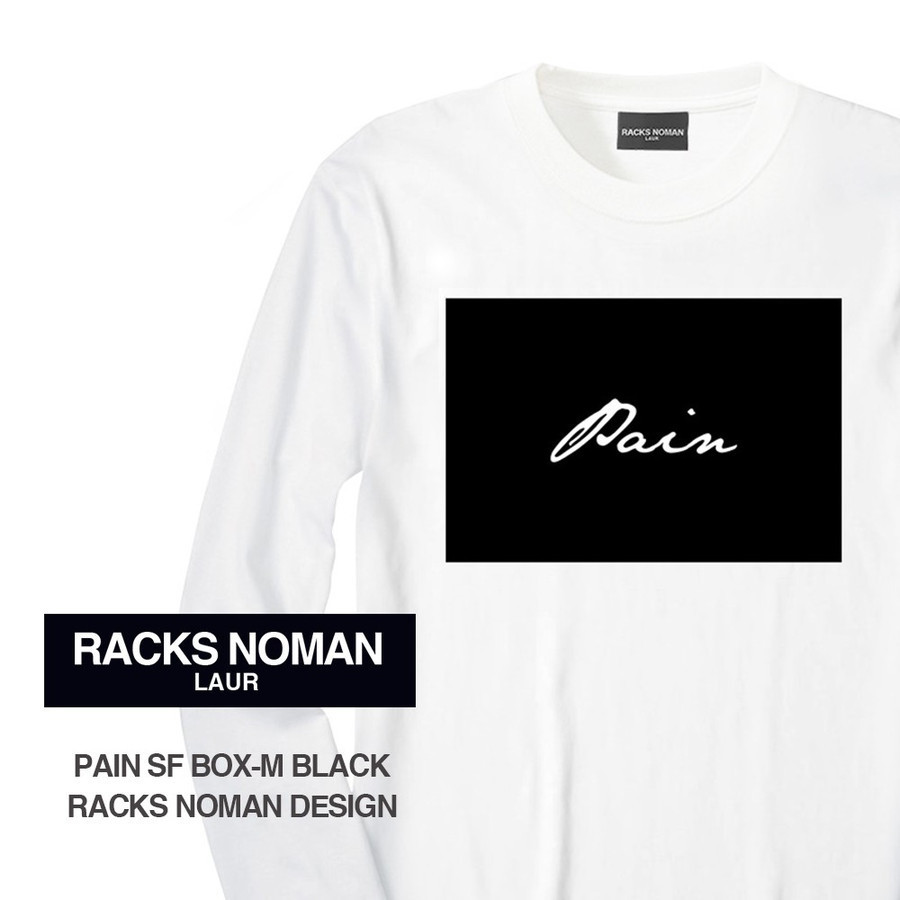【国内発送】RACKS NOMAN / PAIN SF BOX-M BLACK L/S TEE W