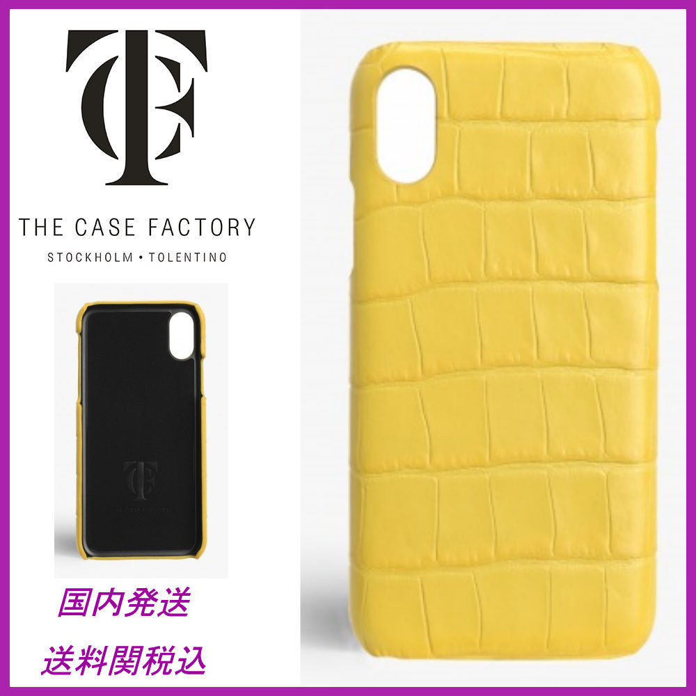 日本未☆THE CASE FACTORY☆Crocodile Lemon iPhoneX case 全込