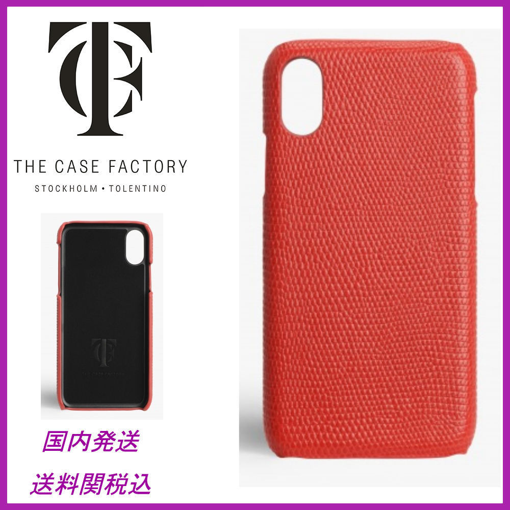 日本未☆THE CASE FACTORY☆Lizard Corallo iPhoneX case 送関込