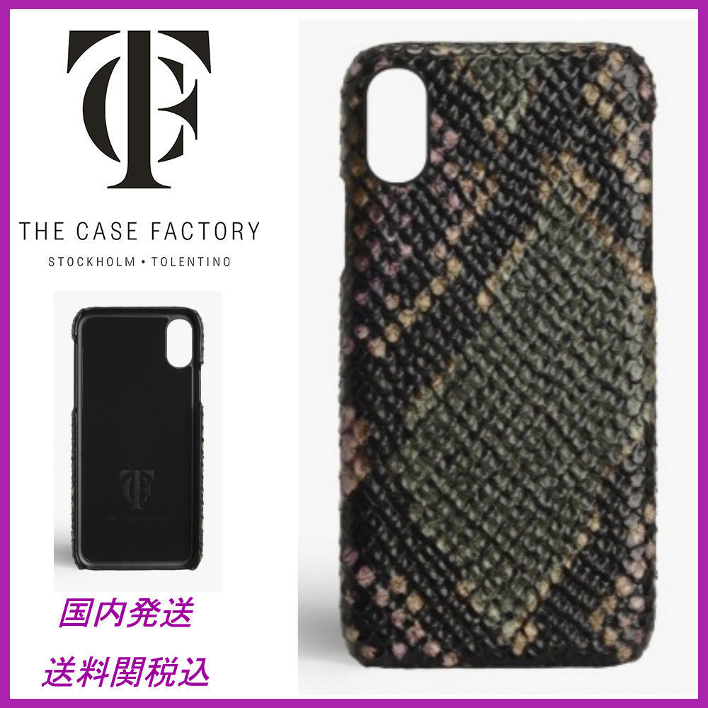 日本未☆THE CASE FACTORY☆Python Multicolor iPhoneX 送関込