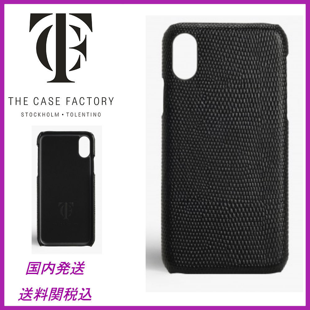 日本未☆THE CASE FACTORY☆Lizard Black iPhoneX case 送関込