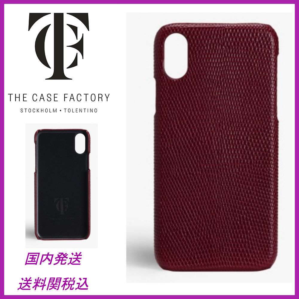 日本未☆THE CASE FACTORY☆Lizard Porpora iPhoneX case 送関込
