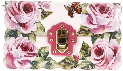 D&G★ss18逸品 ROSE-PRINTED LUCIA CROSS-BODY バッグ