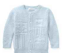 新作♪国内発送 2色Contrast-Knit Cotton Cardigan boys 0~24M