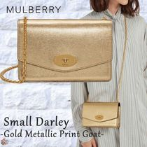 Mulberry☆Small Darley -Gold Metallic Print Goat- ゴールド