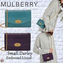 Mulberry☆Small Darley-Embossed Lizard-
