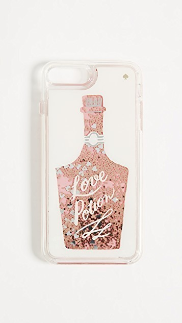 ★関税送料込★kate spade★Glitter Love Potion iPhone 7/8Plus