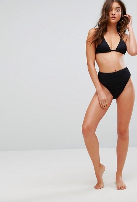 Boohoo☆Mix & Match Ribbed Textured Triangle Bikini♪