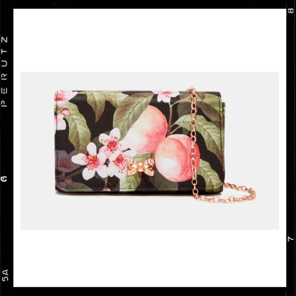 関税込【Ted Baker】PAULEEN Peach Blossom evening bag