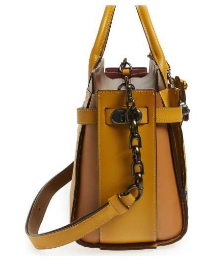 COACH Double Swagger Leather Satchel